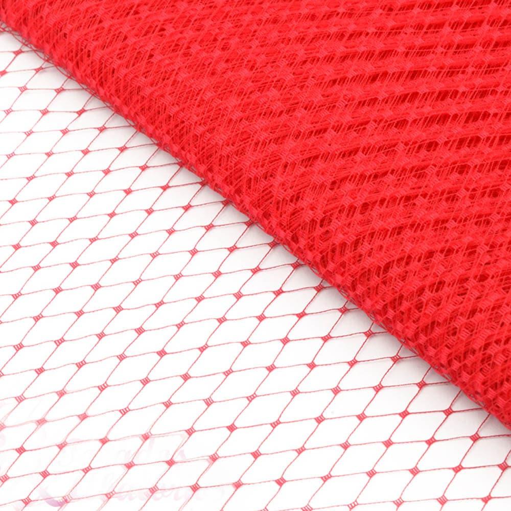 velo liso 23 cm rojo