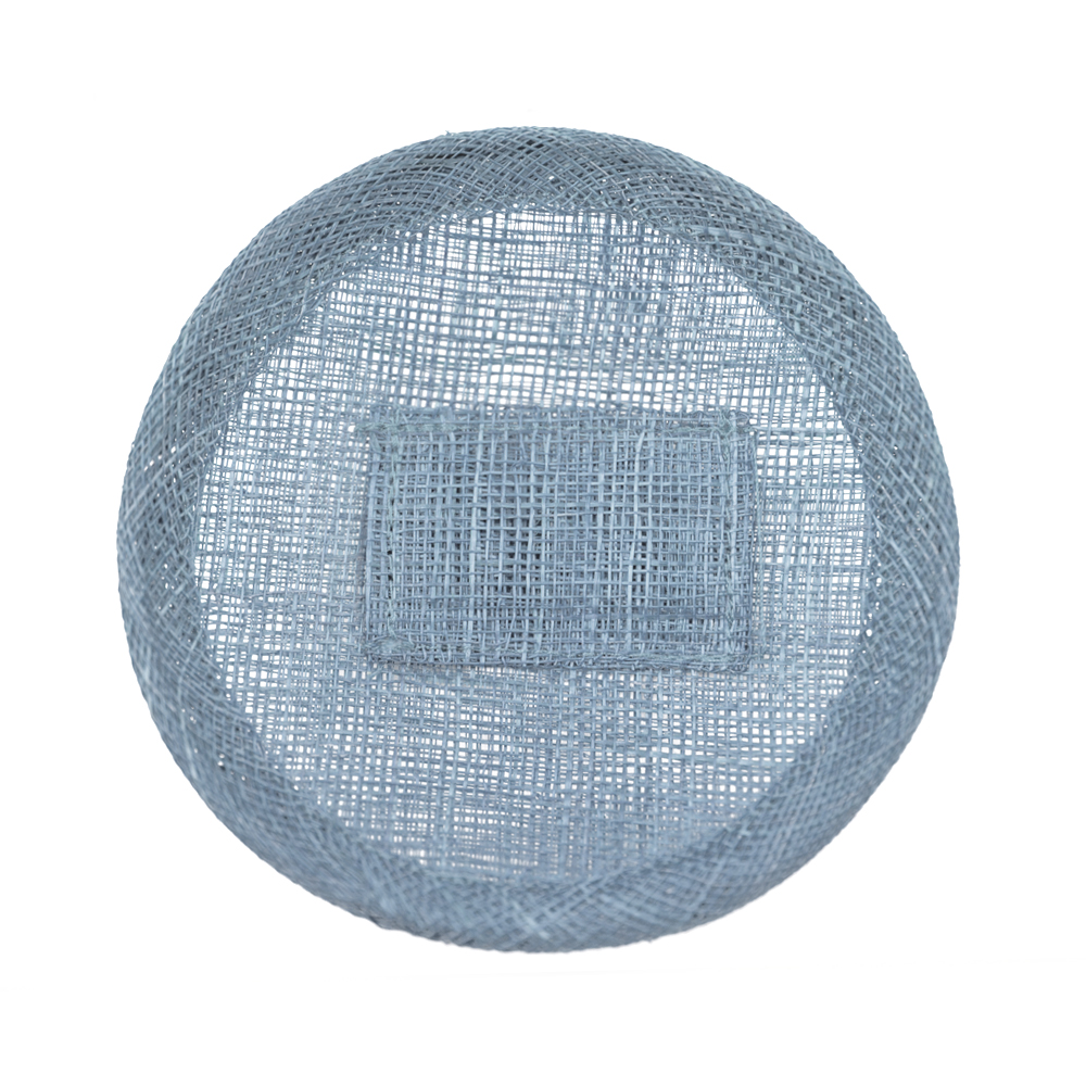 Base sinamay 11 cm con soporte azul empolvado