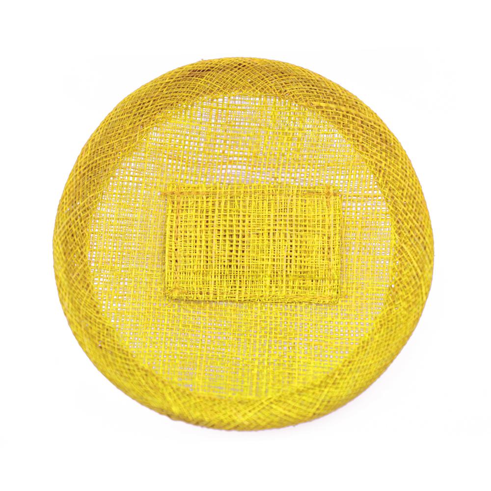 Base sinamay 11 cm con soporte dorado