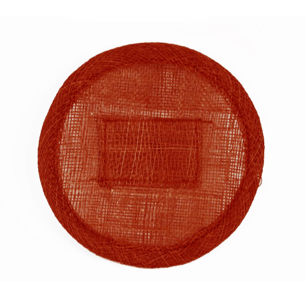 Base sinamay 11 cm con soporte granate