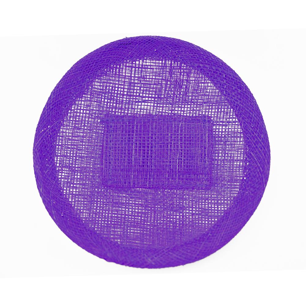 Base sinamay 11 cm con soporte morado