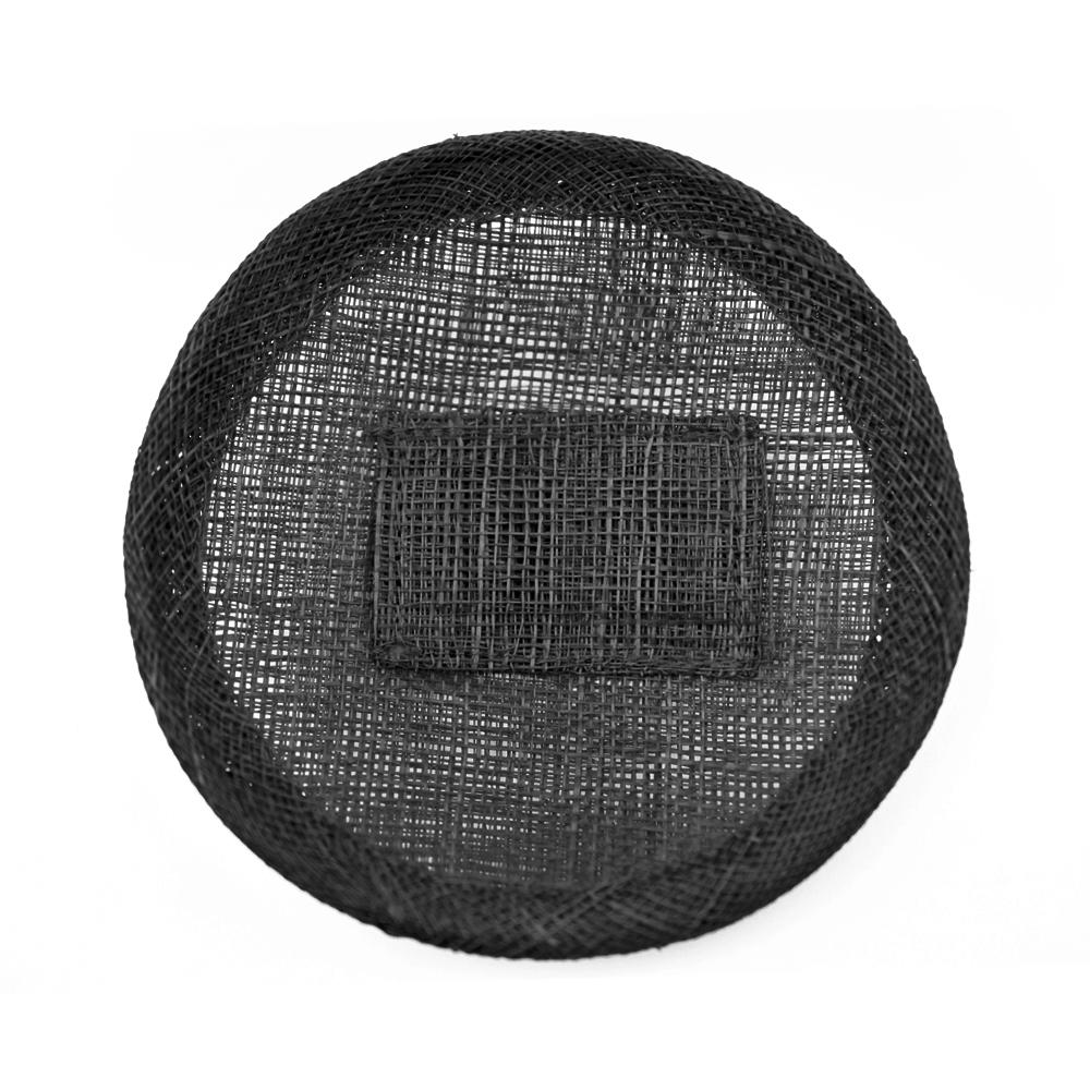 Base sinamay 11 cm con soporte negro