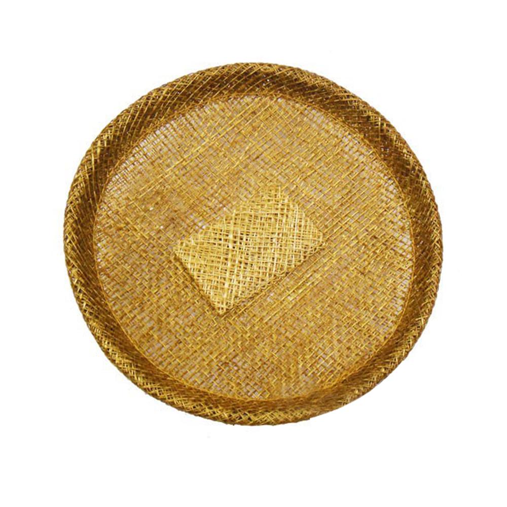 Base sinamay 11 cm con soporte oro viejo