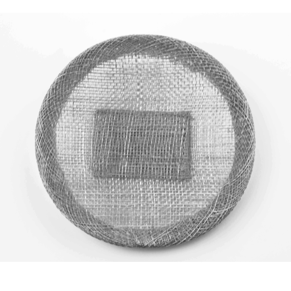 Base sinamay 11 cm con soporte plata