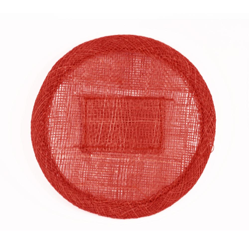 Base sinamay 11 cm con soporte rojo