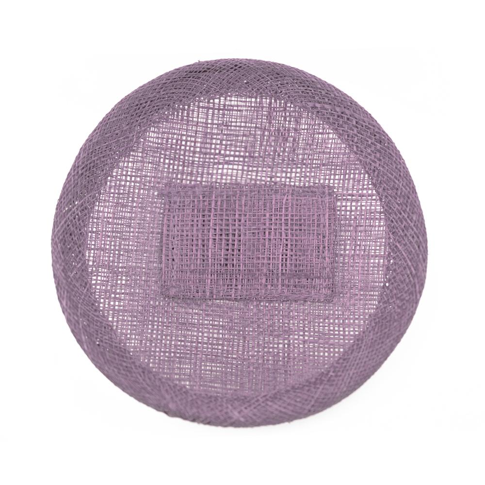 Base sinamay 11 cm con soporte rosa nude oscuro