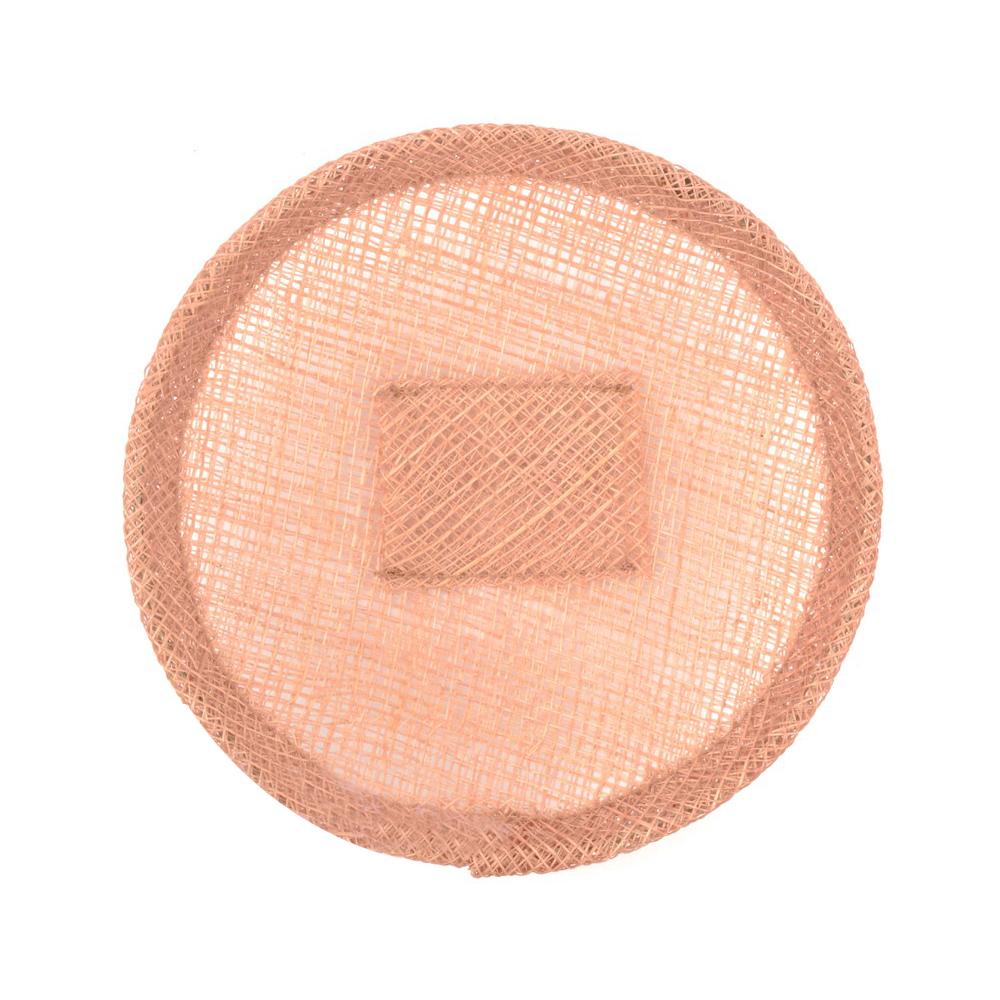 Base sinamay 11 cm con soporte rosa nude