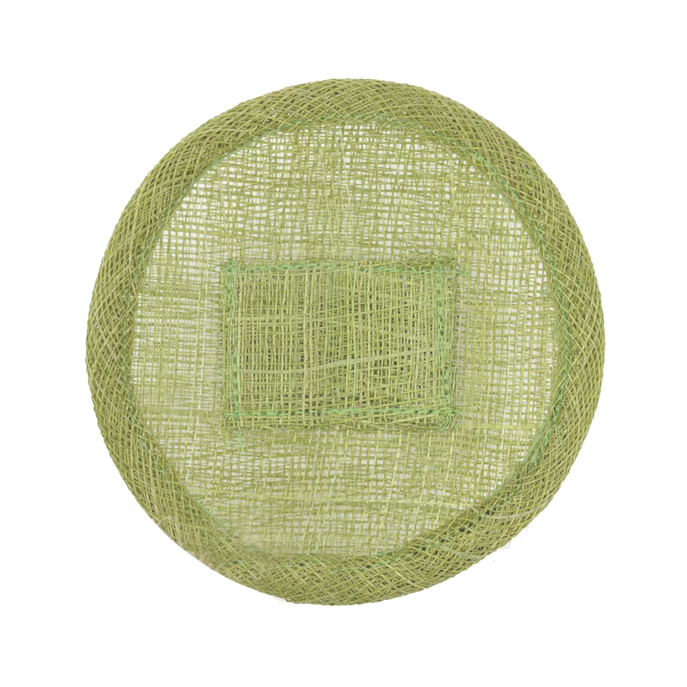 Base sinamay 11 cm con soporte verde claro