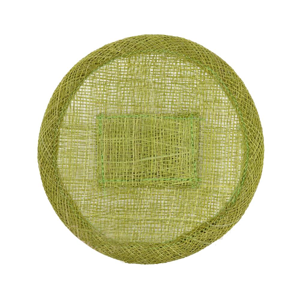 Base sinamay 11 cm con soporte verde medio