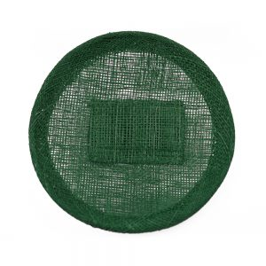 Base sinamay 11 cm con soporte verde oliva