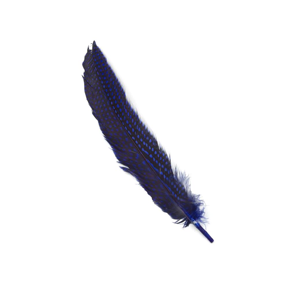 Bolsa Plumas Guinea 20 cm azul marino