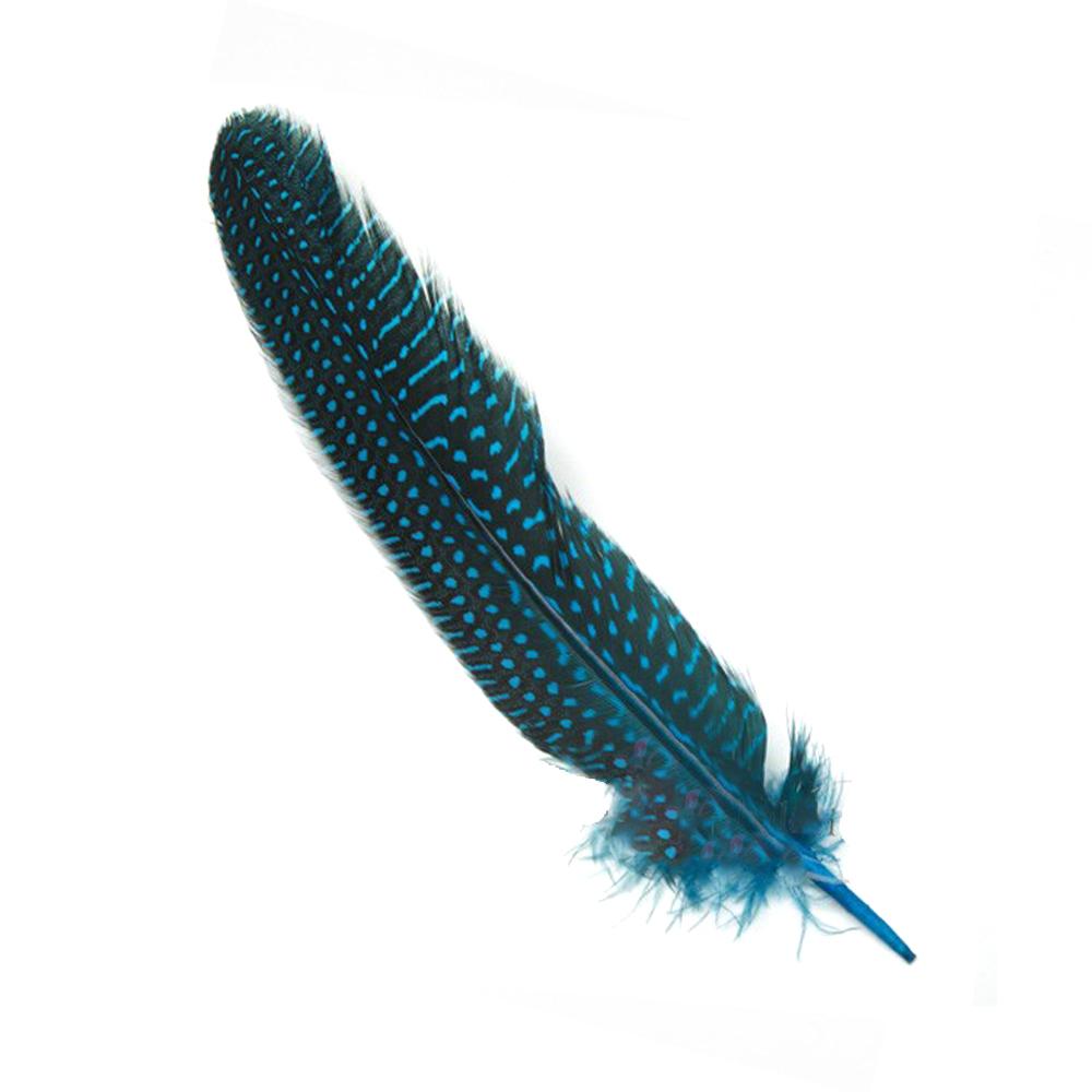 Bolsa Plumas Guinea 20 cm turquesa