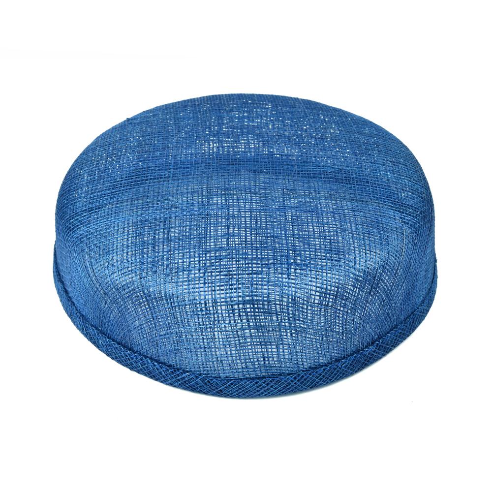 Casquete sinamay 18x16x5 cm azul klein