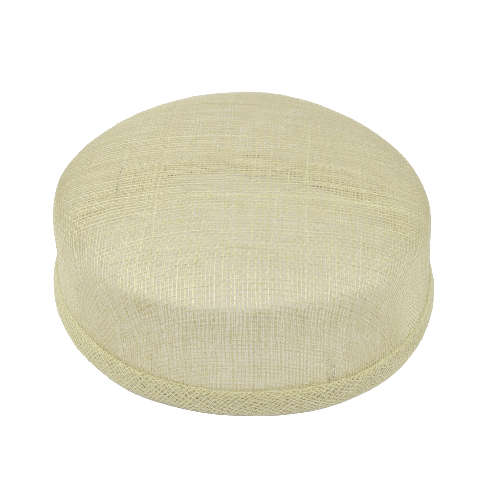 Casquete sinamay 18x16x5 cm natural