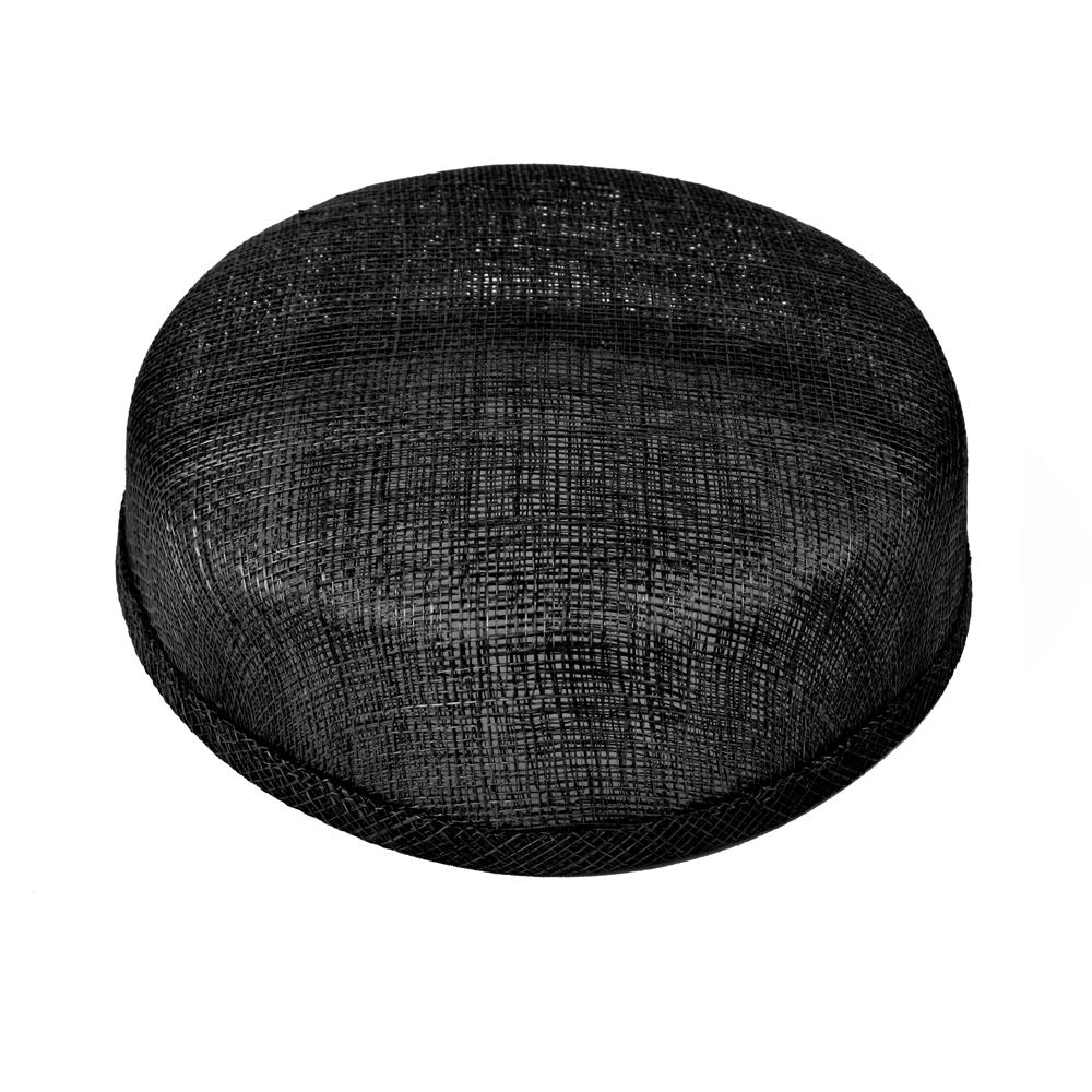 Casquete sinamay 18x16x5 cm negro