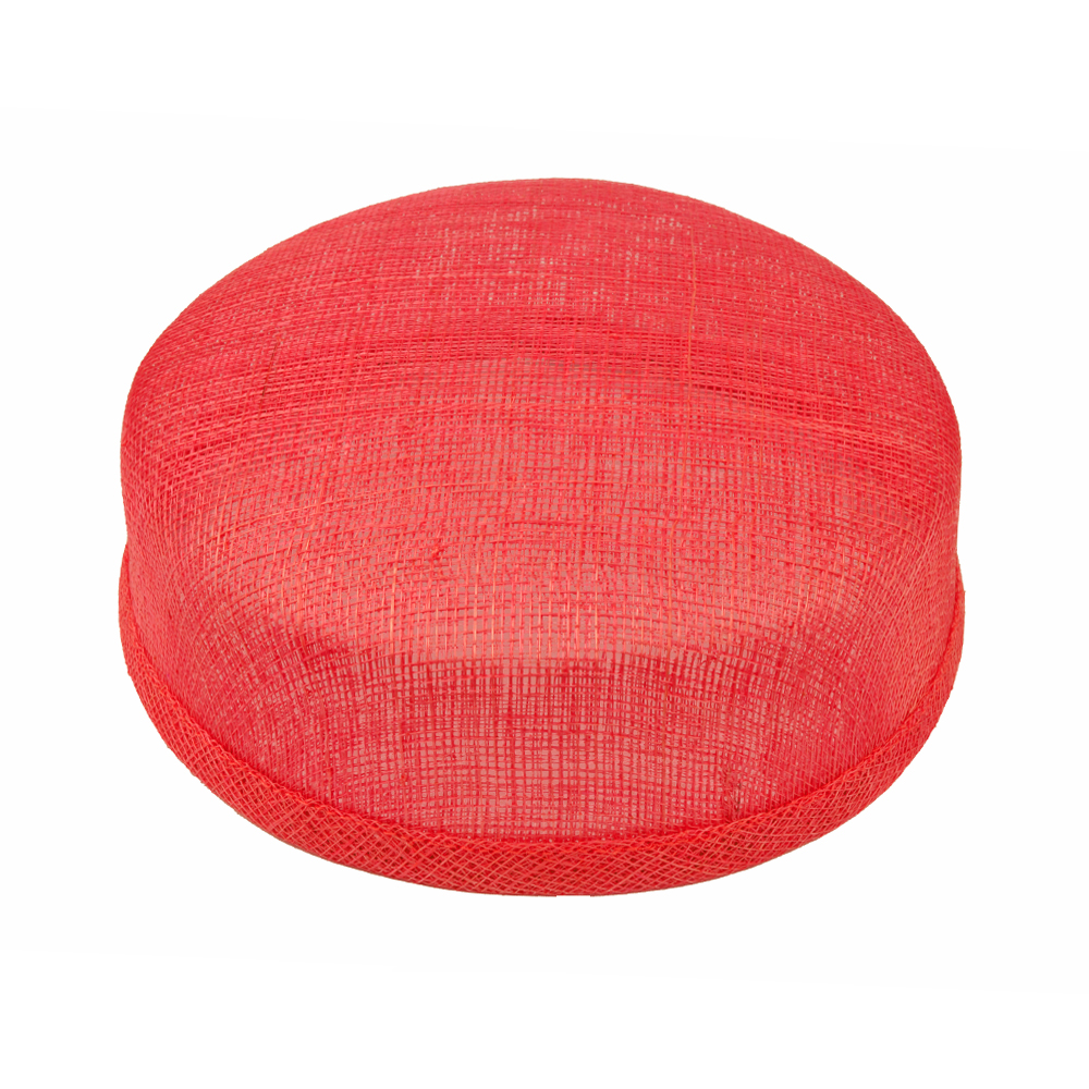 Casquete sinamay 18x16x5 cm rojo
