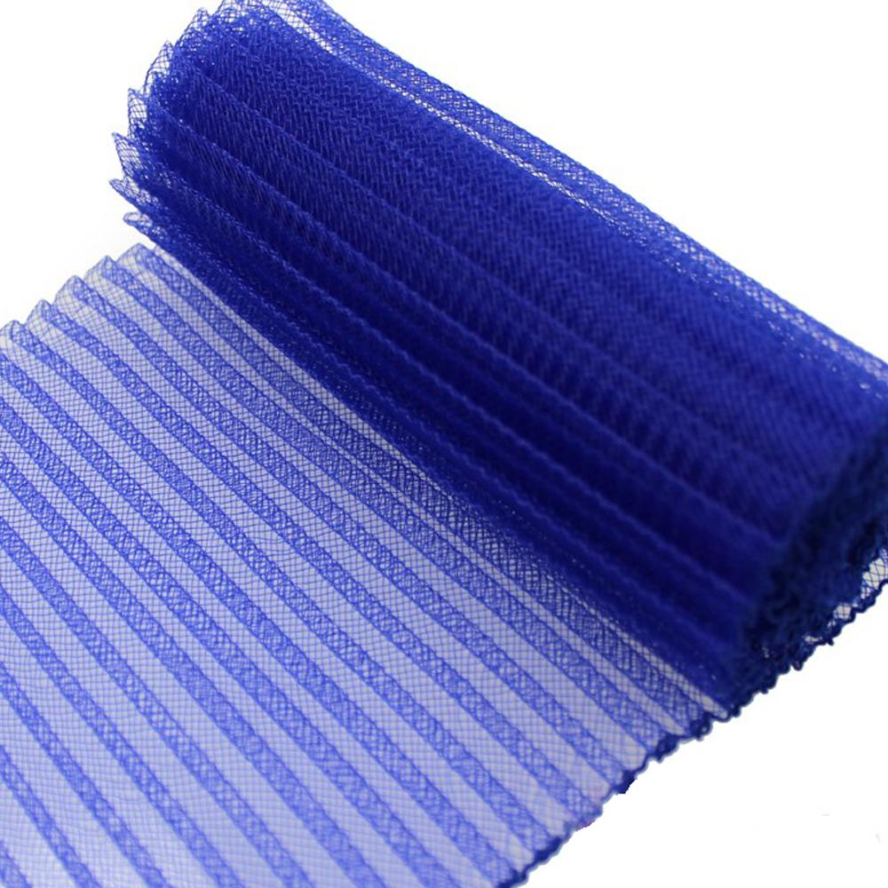 Crin plisado 15 cm azul klein