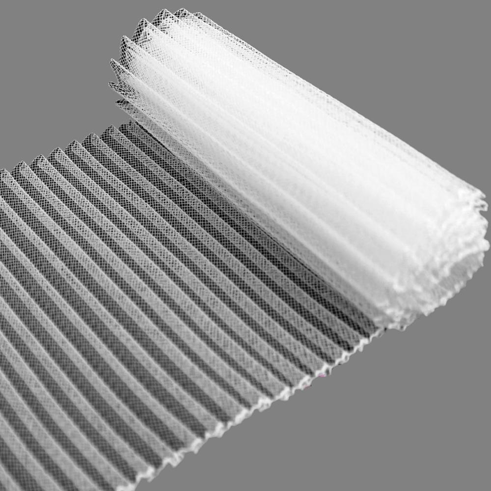 Crin plisado 15 cm blanco
