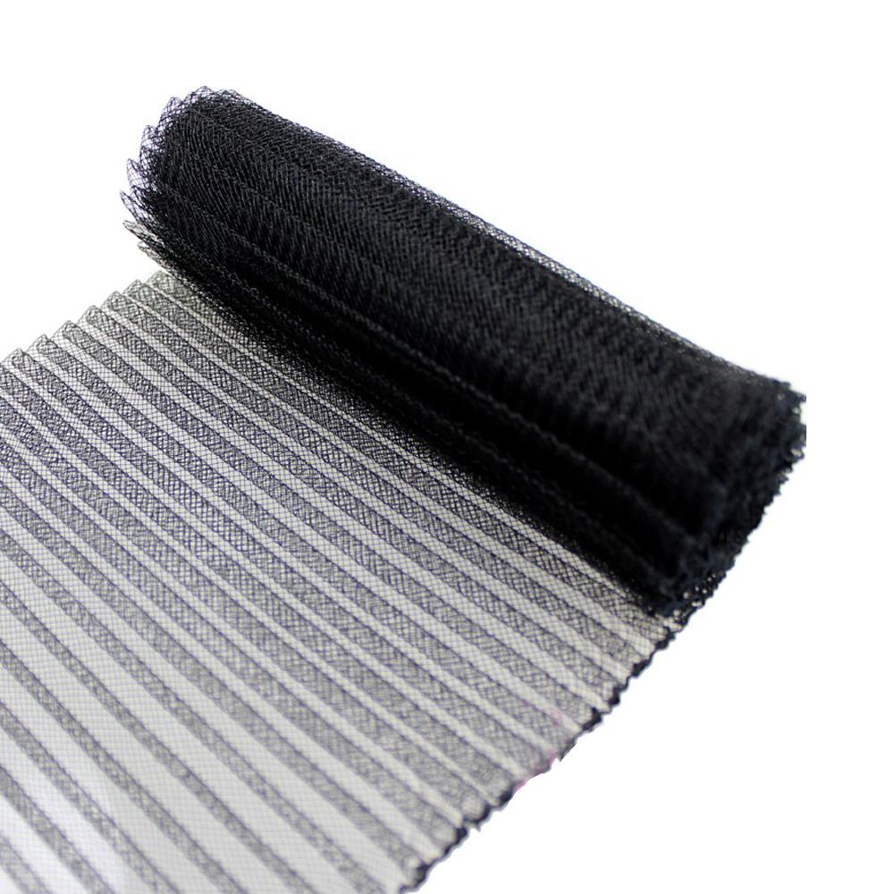 Crin plisado 15 cm negro