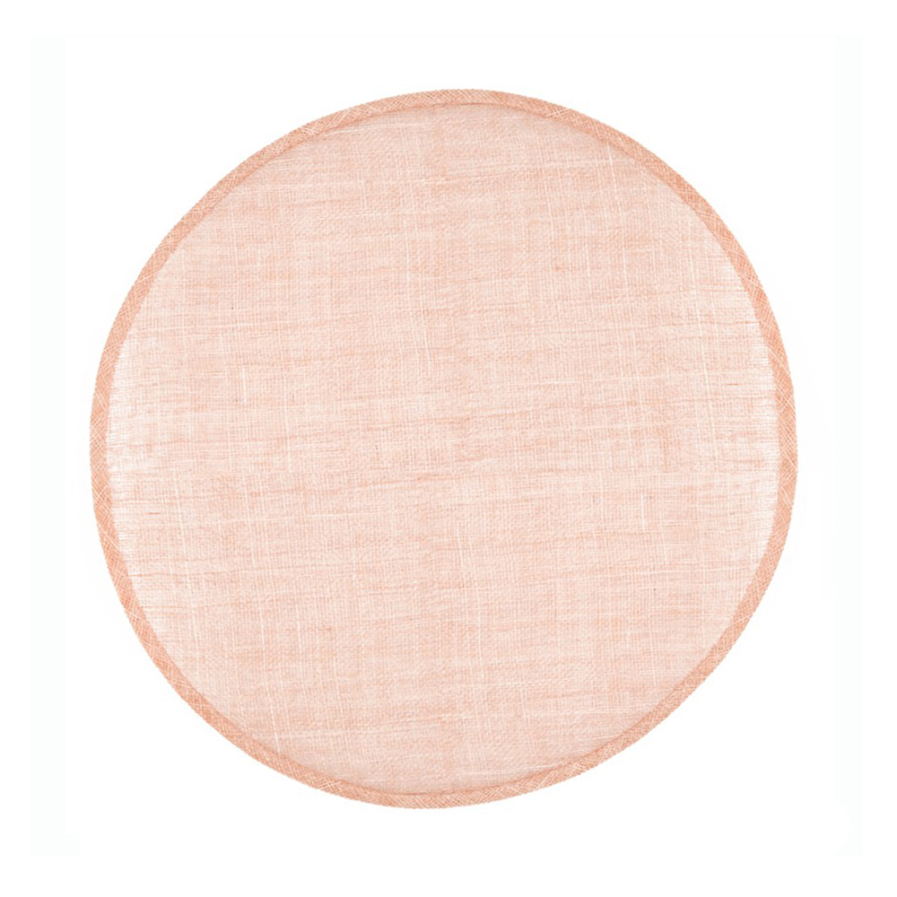 Disco Pamela Sinamay 34 CM rosa nude