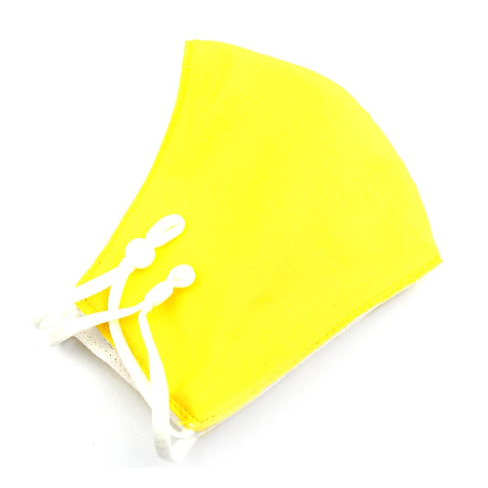 Mascarilla de tela redonda lisa amarilla