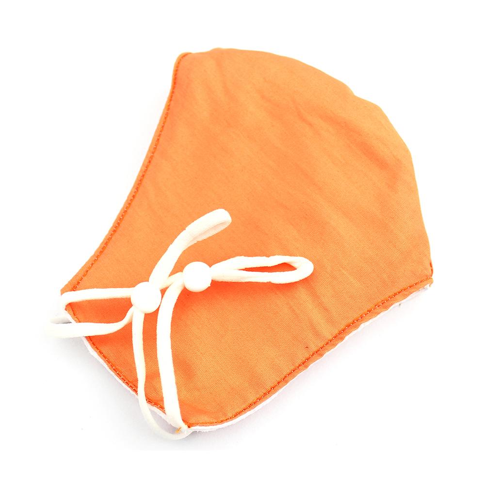 Mascarilla de tela redonda lisa naranja