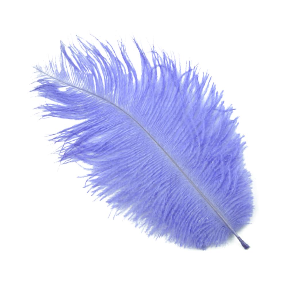 Plumas avestruz 15 20 cm lila