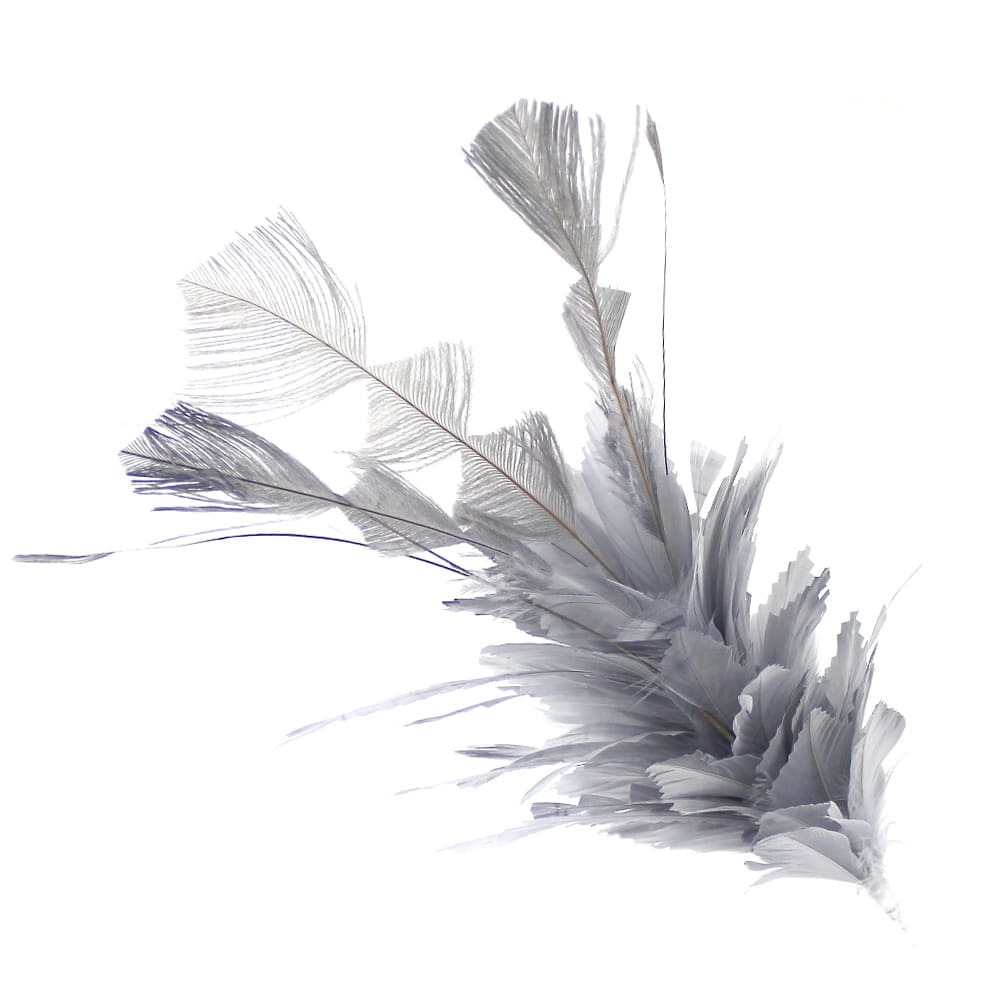 pomo de plumas silver plata