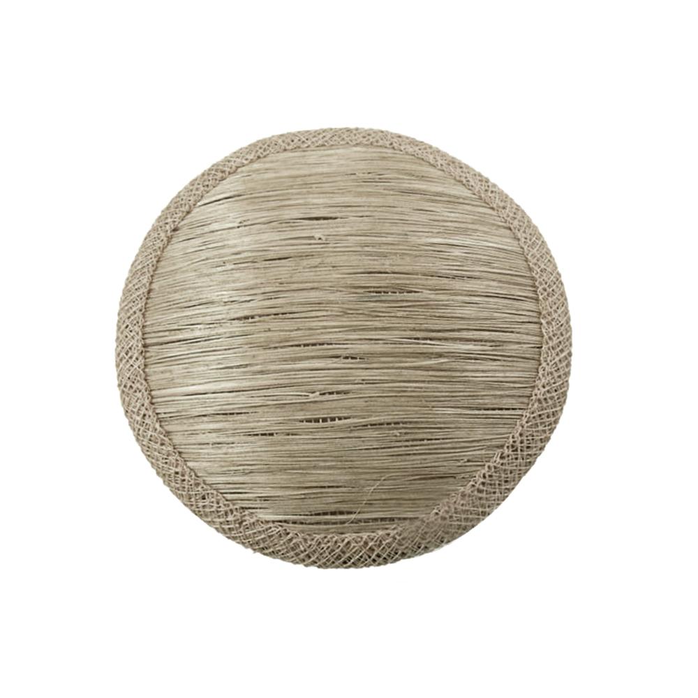 Base 11 cm de Abacá gris plata