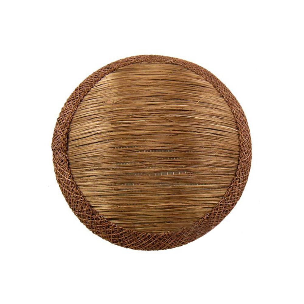 Base 11 cm de Abacá marrón oscuro