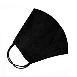 Mascarilla de tela simétrica lisa negro
