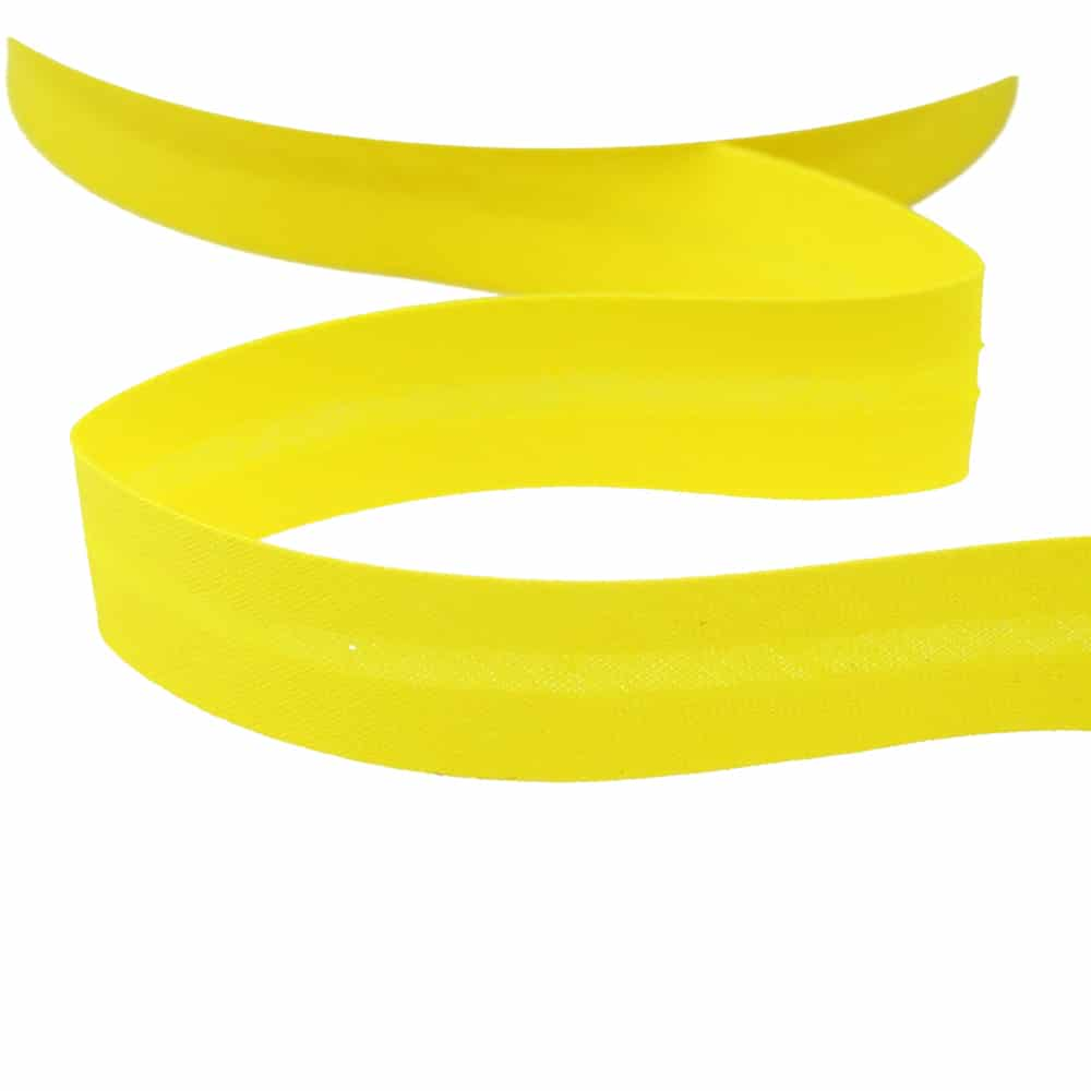 cinta bies de algodon 18 mm amarillo