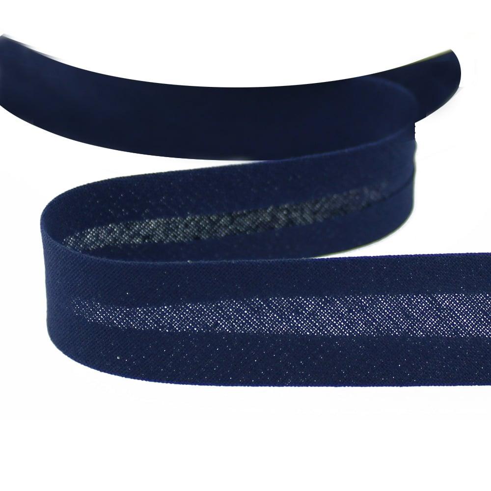 cinta bies de algodon 18 mm azul marino