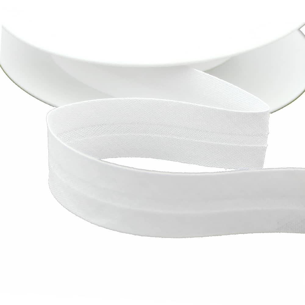 cinta bies de algodon 18 mm blanco