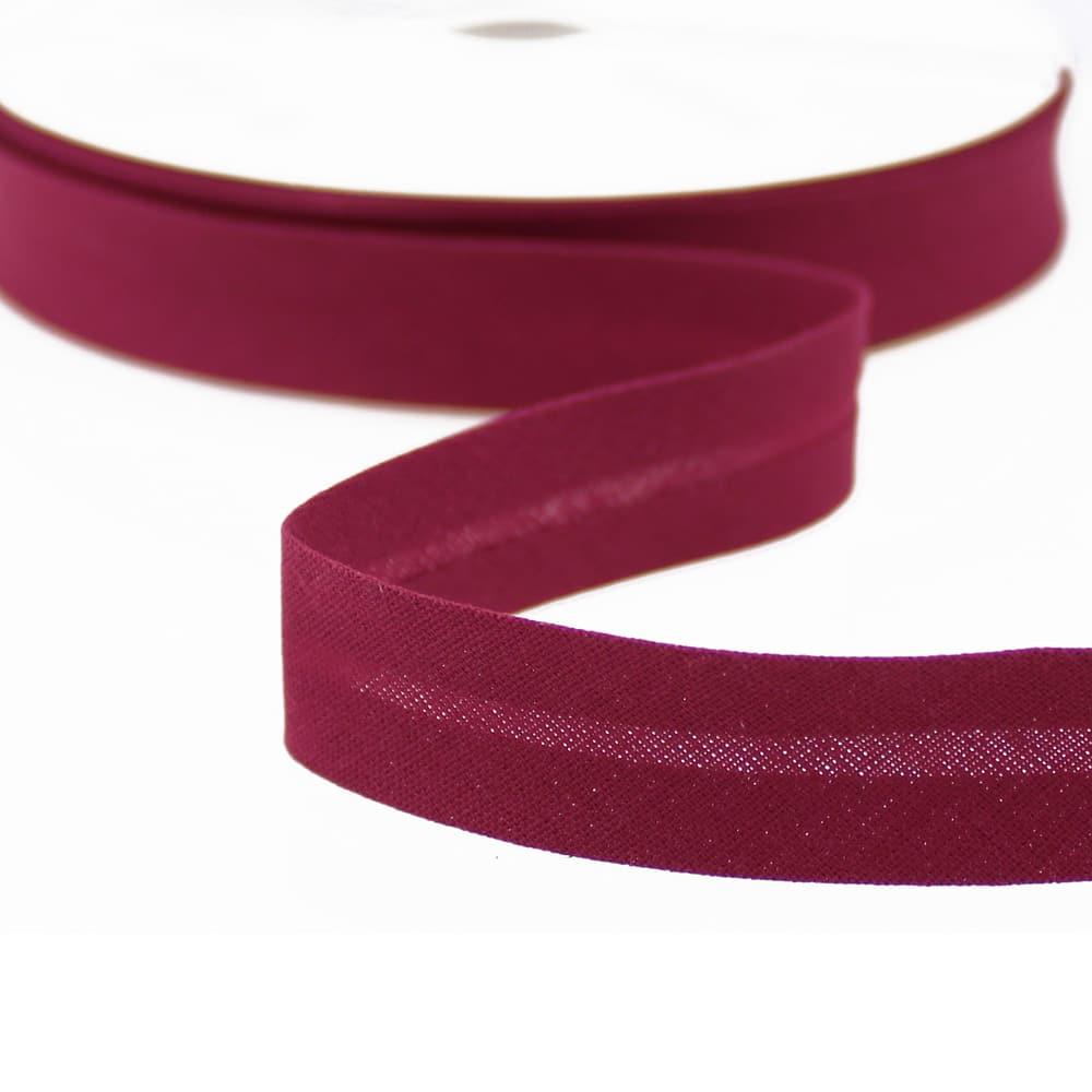 cinta bies de algodon 18 mm burdeos