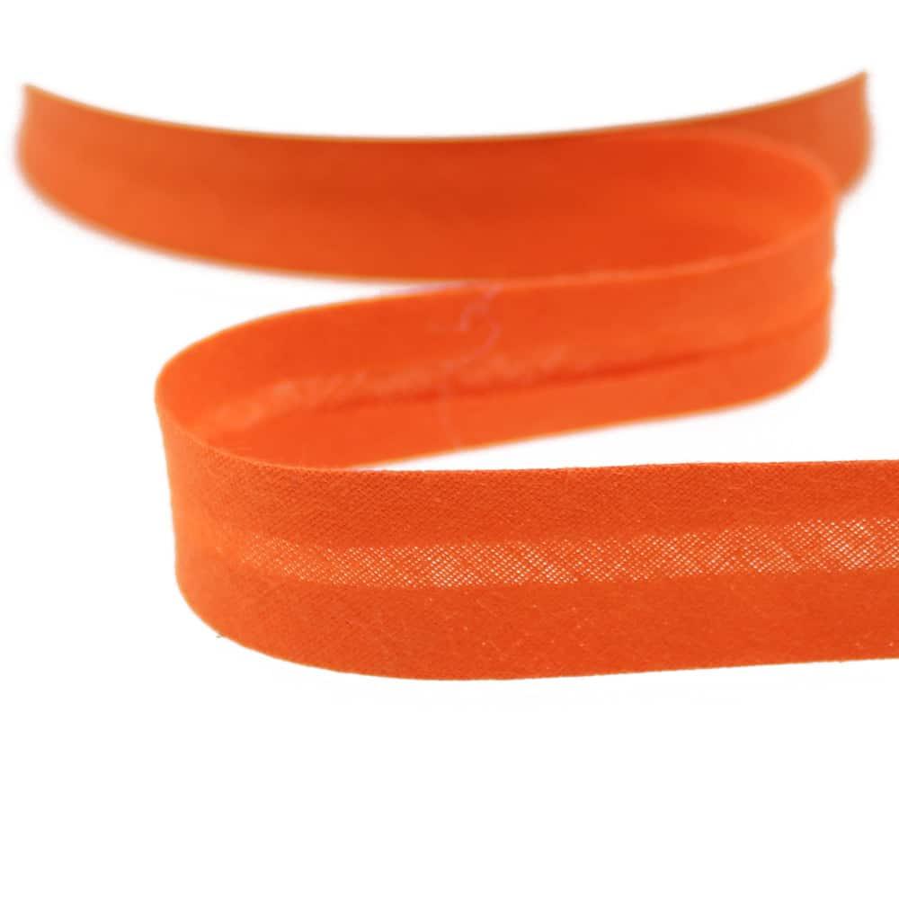 cinta bies de algodon 18 mm naranja