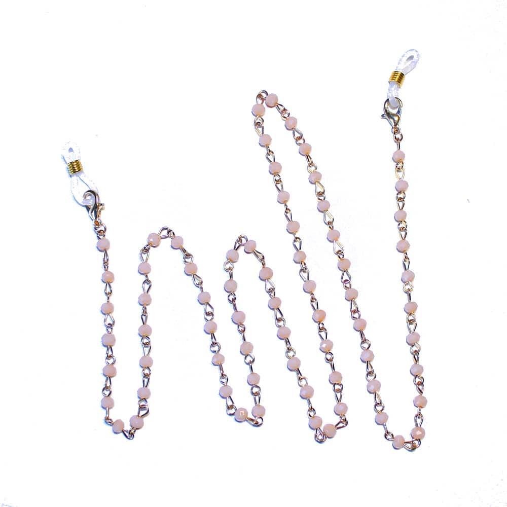 cordon mascarilla cristal rosa nude