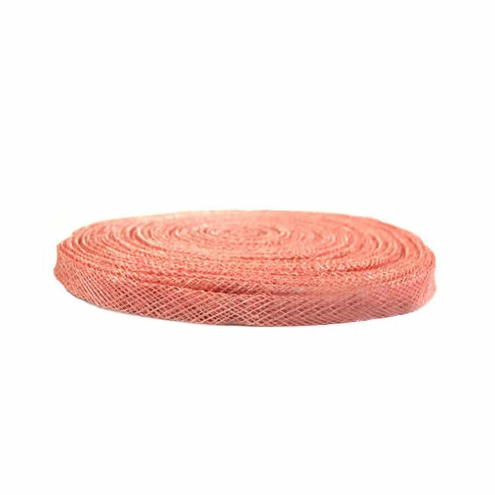 cinta sinamay 1 cm coral