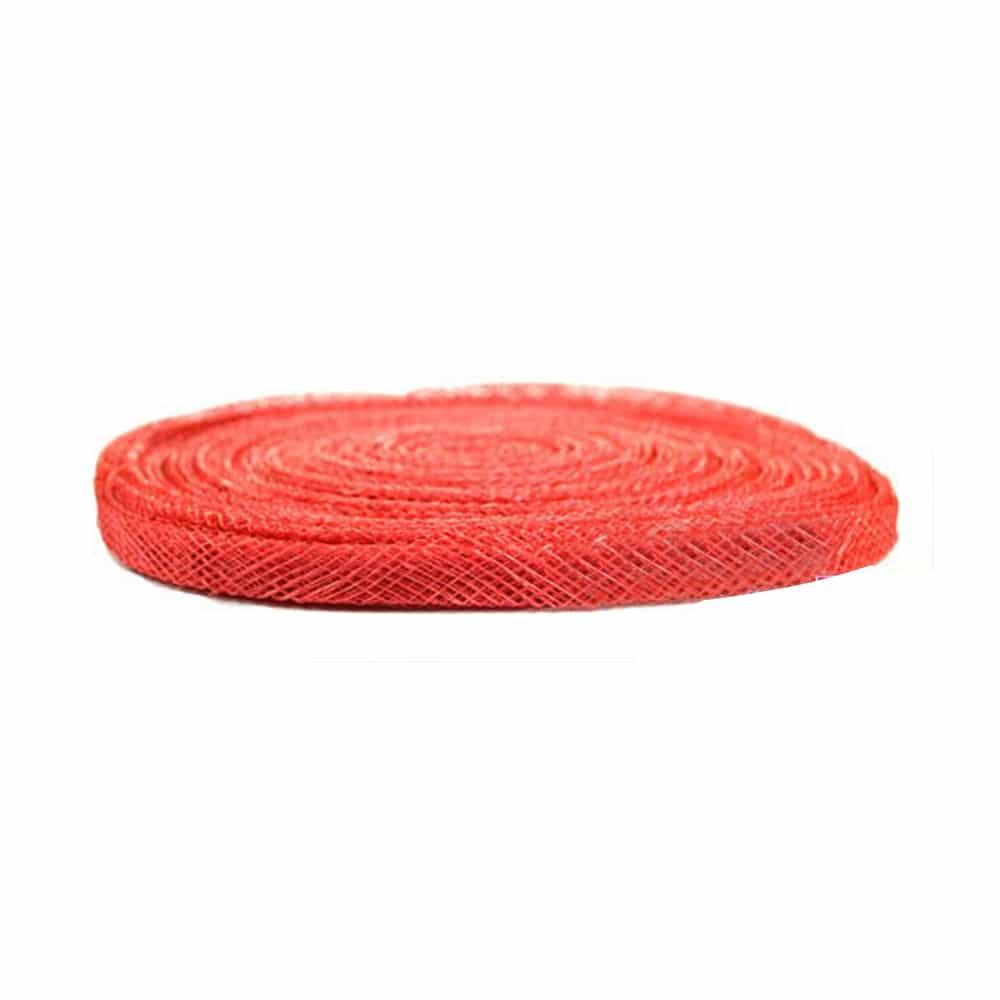 cinta sinamay 1 cm rojo