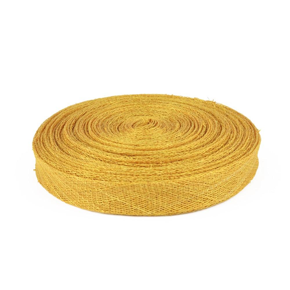 cinta sinamay 2 cm dorado