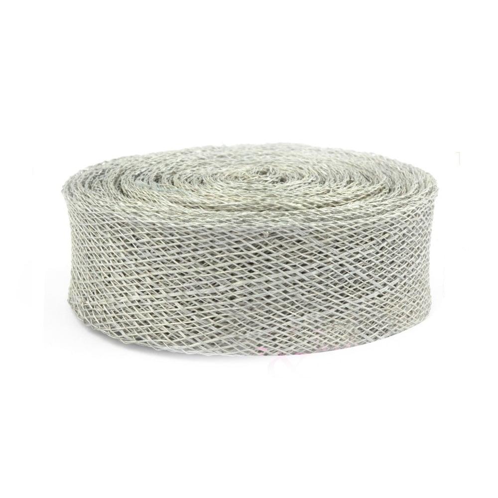 cinta sinamay 2 cm gris plata