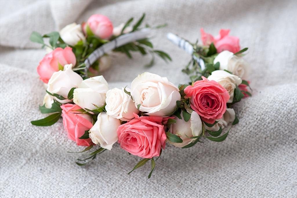 Tiaras y coronas de flores