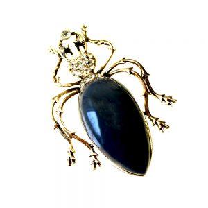 broche insecto azul marino
