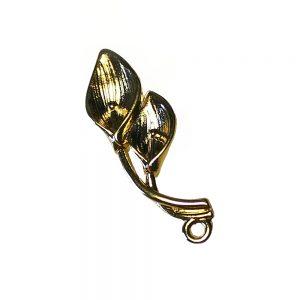 doble anturio de laton oro
