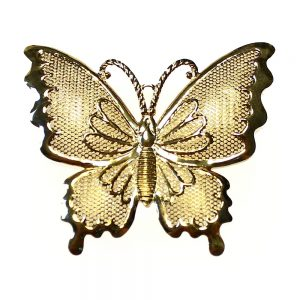 mariposa de malla metalica 4 cm oro