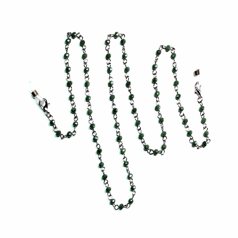 cordon mascarilla cristal verde carruaje